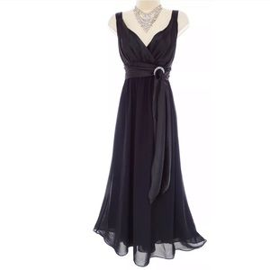 Size 14 NWT▪️BLACK CHIFFON COLDWATER CREEK DRESS